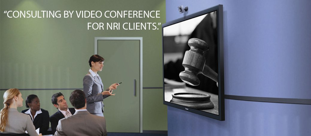 CONSULTING BY VIDEO CONFERENCE FOR NRI CLIENTS.